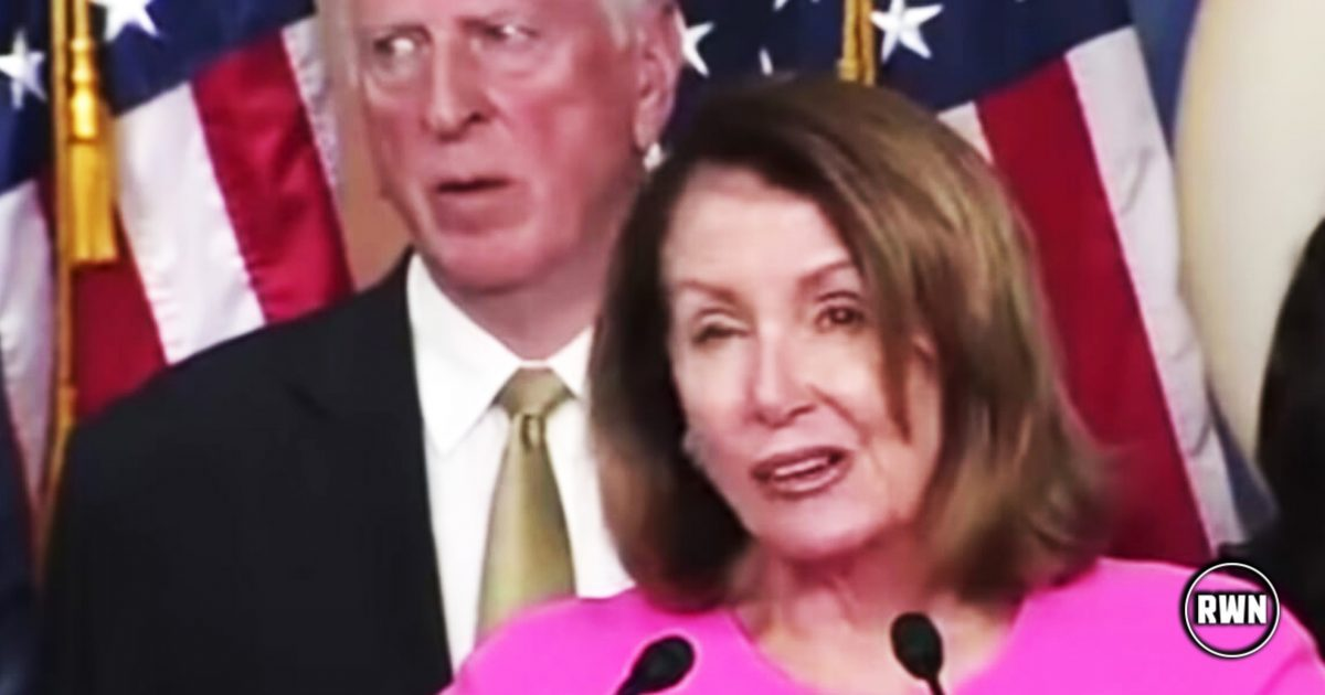 Pelosi Triggered During Her Speech And Starts To Spasm, But All Eyes On Guy Right Behind Her