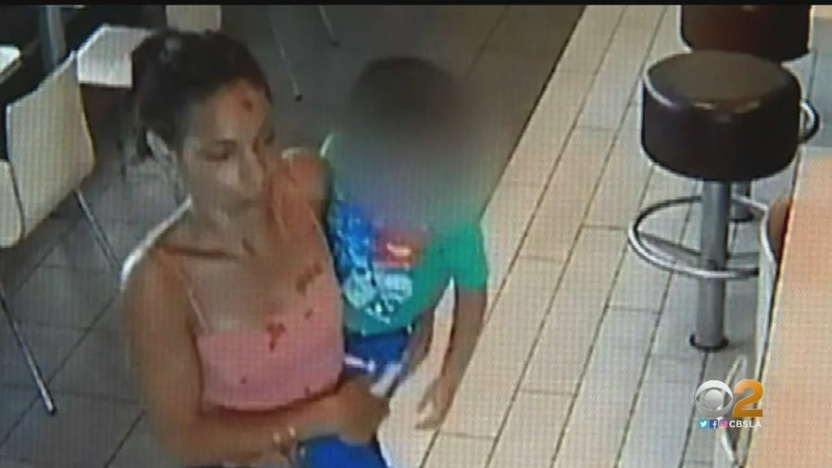 Chilling moment woman tries to abduct four-year-old boy from McDonald's restaurant