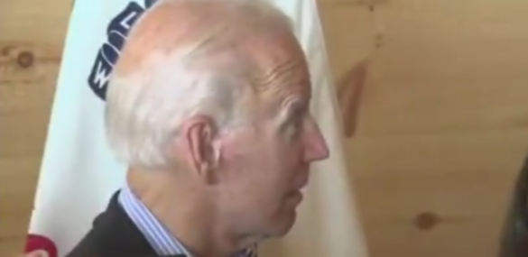 Watch Biden's Priceless Reaction To Being Called Out On His Crowd Size