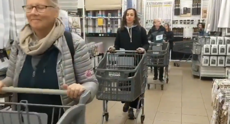 Watch: Climate Change Activists Flood Black Friday Events