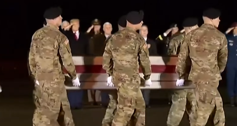Watch: Trump And Pence Make History At Fallen Soldiers' Tribute, This Will Make Your Proud!
