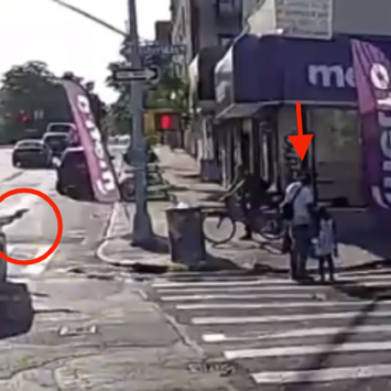 Brazen Broad Daylight Assignation Of Father Walking With His Daughter Caught On Camera