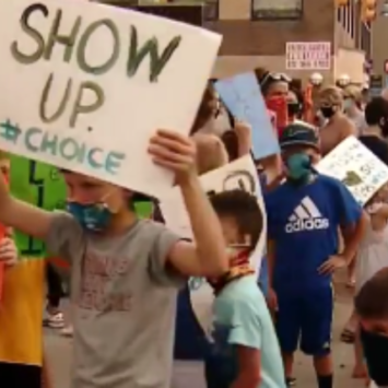 A Protest You Can Get Behind, Students Rally In front Of School